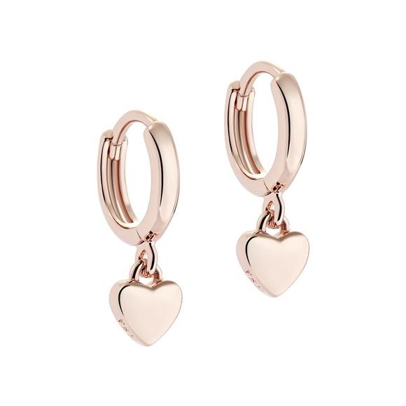 Ted Baker Womens Pink Harrie Tiny Heart Huggie Earring main image