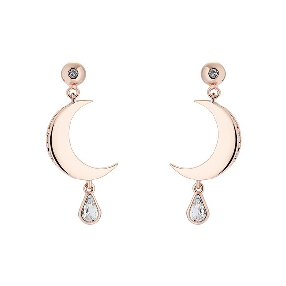 Ted Baker Womens Pink Mertal Crescent Moon Drop Earring