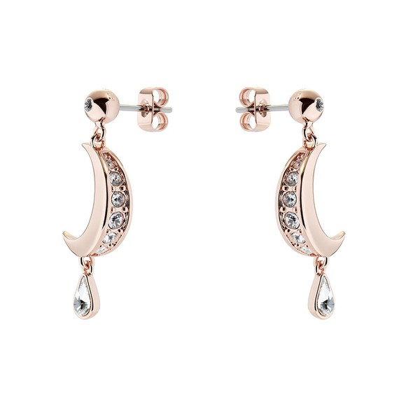 Ted Baker Womens Pink Mertal Crescent Moon Drop Earring main image