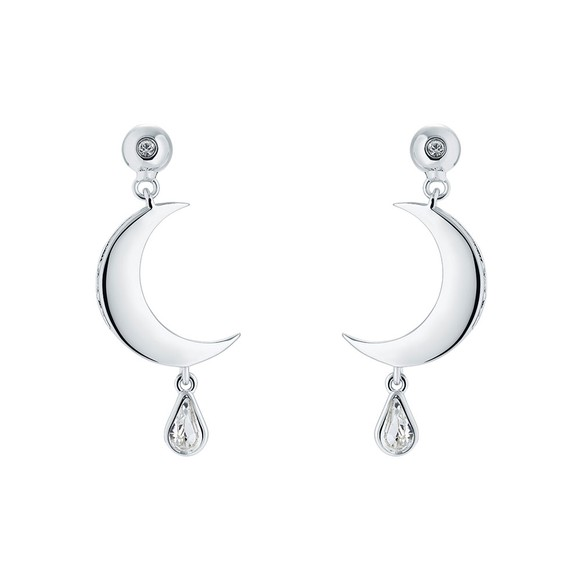 Ted Baker Womens Silver Mertal Crescent Moon Drop Earring