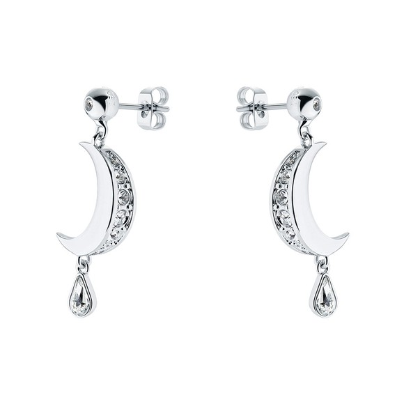 Ted Baker Womens Silver Mertal Crescent Moon Drop Earring main image