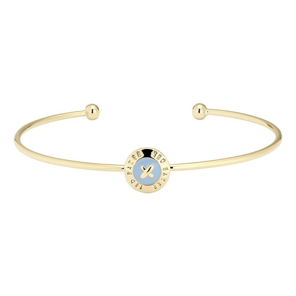 Ted Baker Womens Gold Elvas Enamel Mini Button Bangle