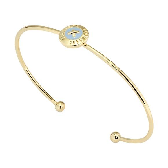 Ted Baker Womens Gold Elvas Enamel Mini Button Bangle main image
