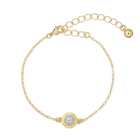Ted Baker Womens Gold Eisa Enamel Button Bracelet