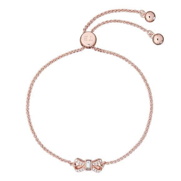 Ted Baker Womens Pink Sabsal Bow Drawstring Bracelet