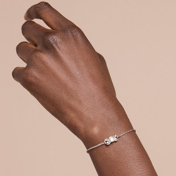 Ted Baker Womens Silver Sabsal Bow Drawstring Bracelet