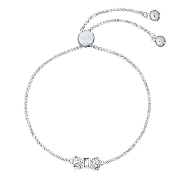 Ted Baker Womens Silver Sabsal Bow Drawstring Bracelet main image