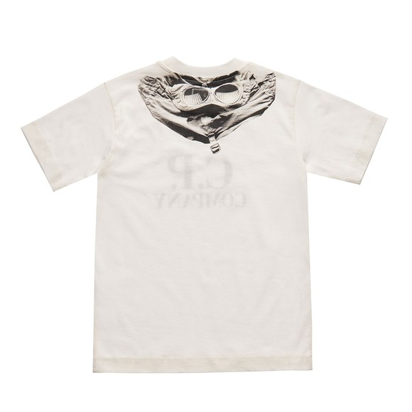 C.P. Company Undersixteen Boys White Printed Goggle T-Shirt