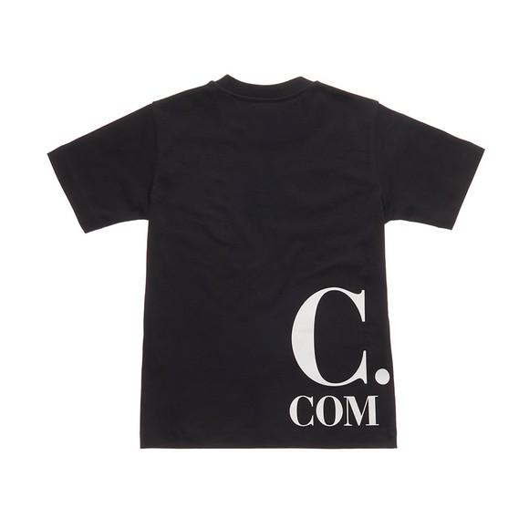 C.P. Company Undersixteen Boys Black Large Logo Printed T-Shirt