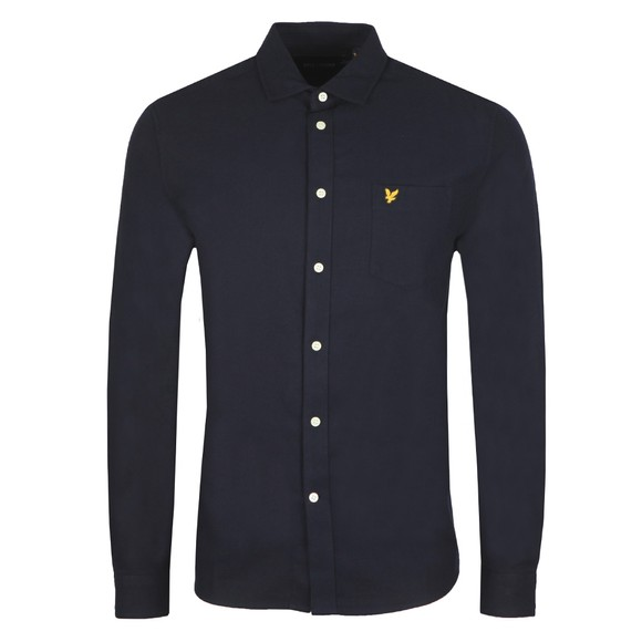 Lyle and Scott Mens Blue Brushed Twill Shirt