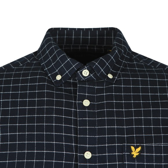 Lyle and Scott Mens Blue Grid Check Shirt