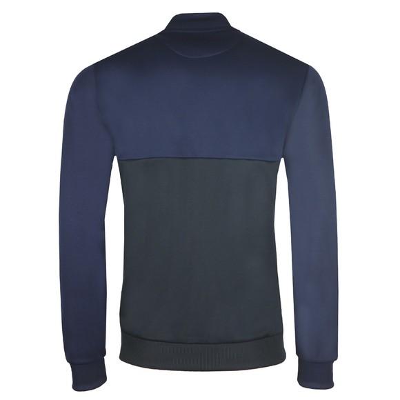 Lyle and Scott Mens Blue Geo Panel Zip Through Sweatshirt main image