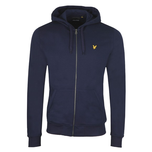 Lyle and Scott Mens Blue Full Zip Hooded Sweatshirt