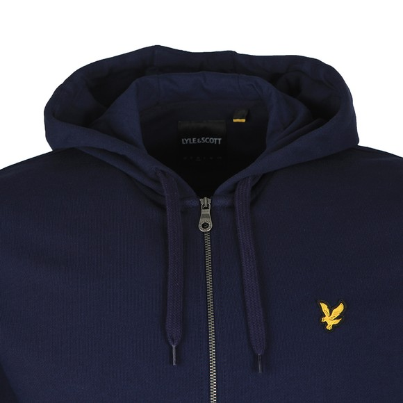 Lyle and Scott Mens Blue Full Zip Hooded Sweatshirt main image