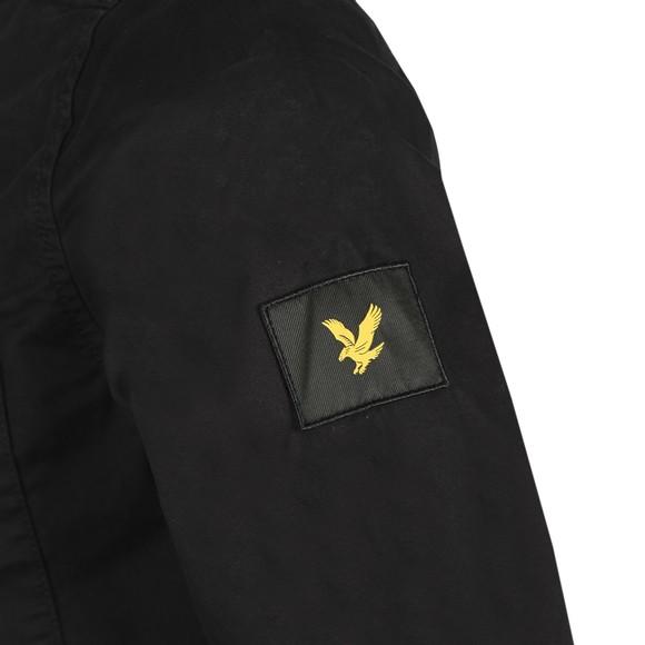Lyle and Scott Mens Black Zip Detail Overshirt main image