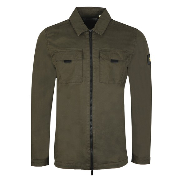 Lyle and Scott Mens Green Zip Detail Overshirt main image
