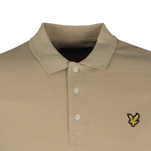 Lyle and Scott Mens Beige Plain Polo Shirt main image