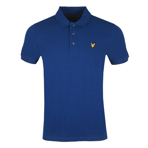 Lyle and Scott Mens Blue Plain Polo Shirt