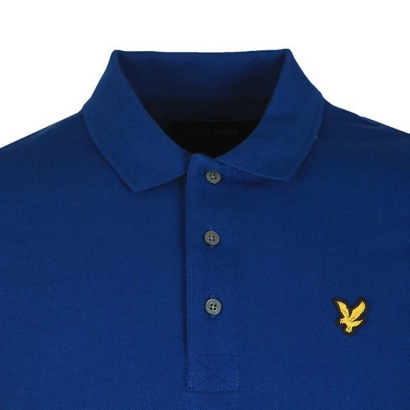 Lyle and Scott Mens Blue Plain Polo Shirt main image