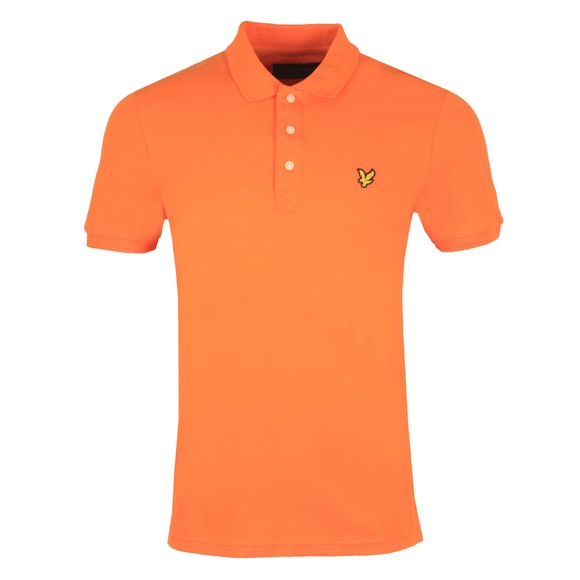 Lyle and Scott Mens Orange Plain Polo Shirt