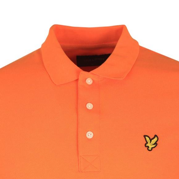 Lyle and Scott Mens Orange Plain Polo Shirt main image
