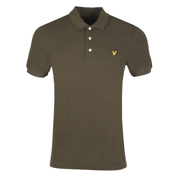 Lyle and Scott Mens Green Plain Polo Shirt