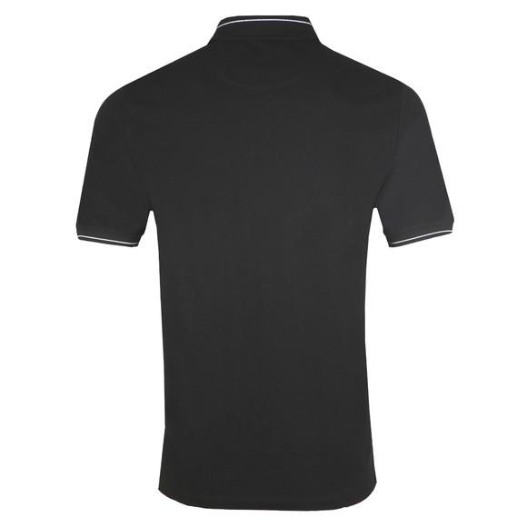 Lyle and Scott Mens Black Branded Ringer Polo Shirt main image