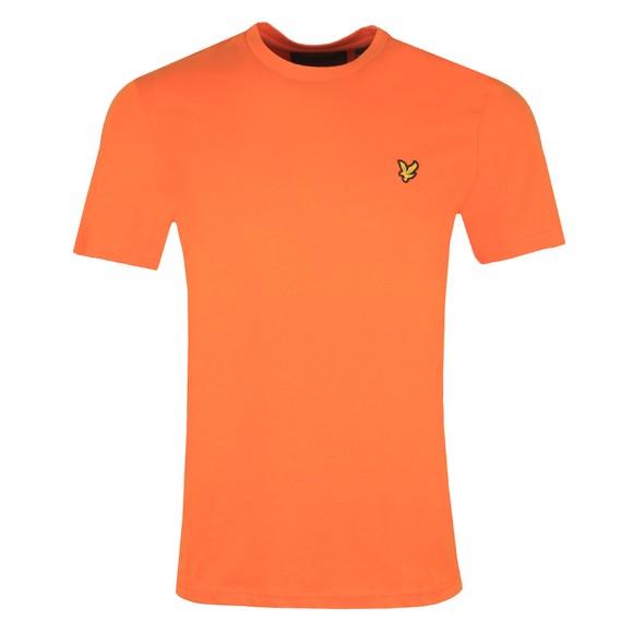 Lyle and Scott Mens Orange Basic T-Shirt main image