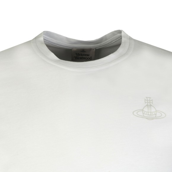 Vivienne Westwood Mens White Small Logo Jersey T Shirt