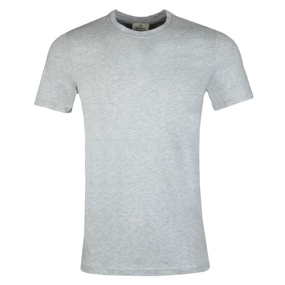 Vivienne Westwood Mens Grey Small Logo Jersey T Shirt