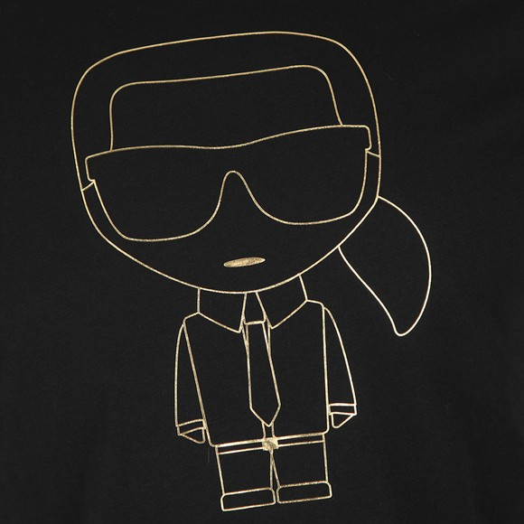 Karl Lagerfeld Mens Black Karl Logo T-Shirt main image