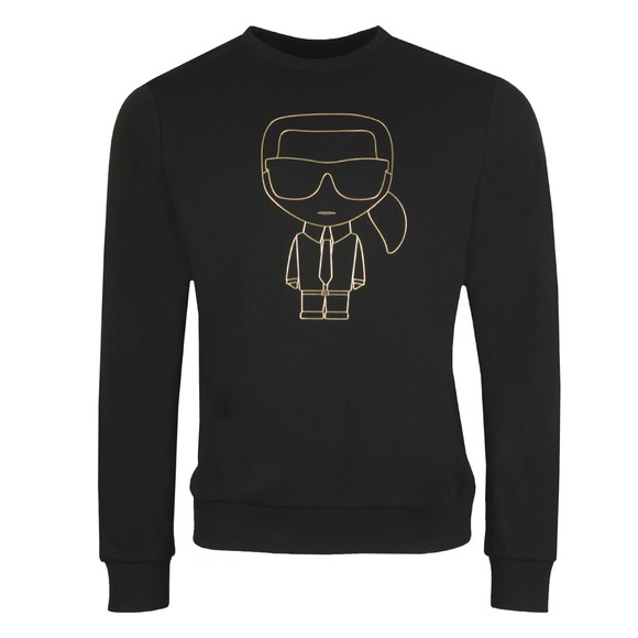 Karl Lagerfeld Mens Black Karl Logo Sweatshirt
