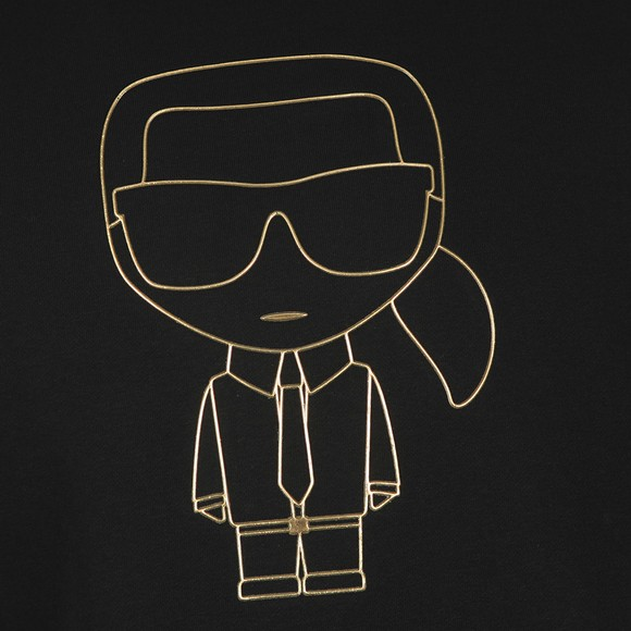 Karl Lagerfeld Mens Black Karl Logo Sweatshirt