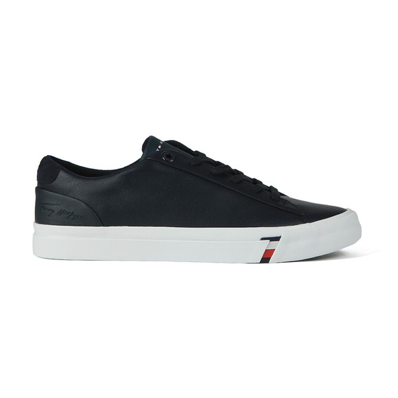 Tommy Hilfiger Mens Blue Corporate Leather Trainer