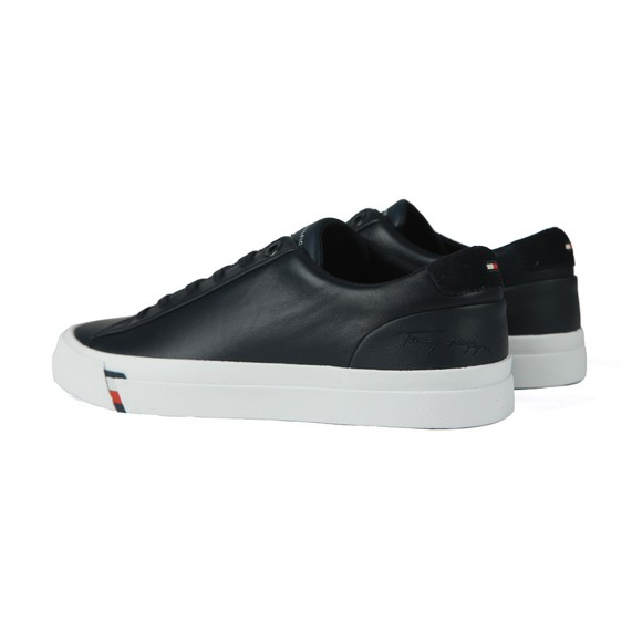 Tommy Hilfiger Mens Blue Corporate Leather Trainer main image