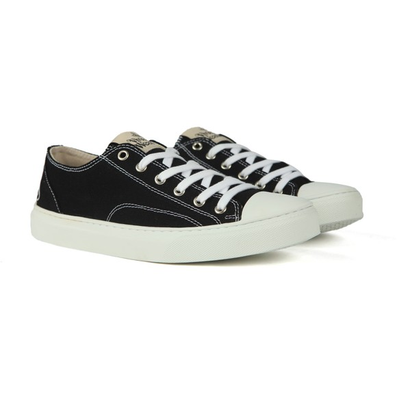 Vivienne Westwood Mens Black Low Plimsoll