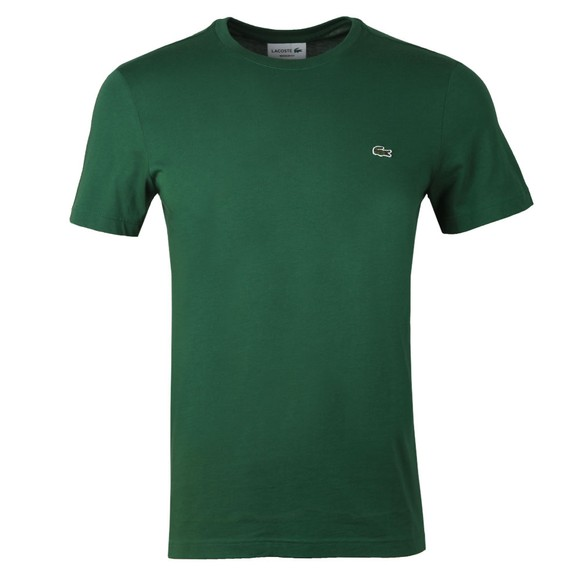 Lacoste Mens Green TH2038 Plain T-Shirt main image
