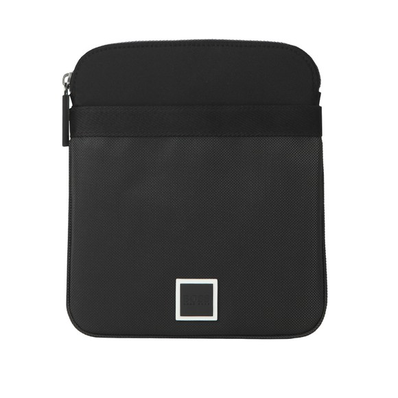 BOSS Mens Black Athleisure Pixel Logo Strap Bag