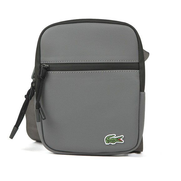 Lacoste Mens Grey Flat Crossover Bag