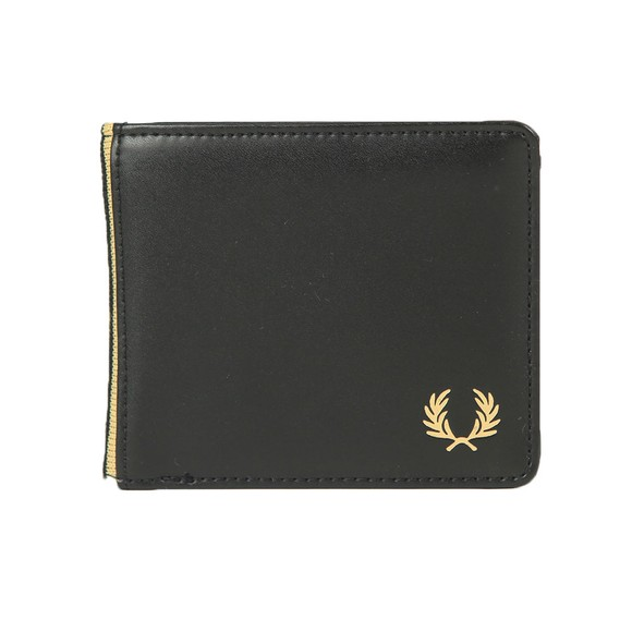 Fred Perry Mens Black Flat Knit Tipped Wallet