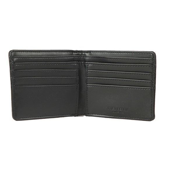 Fred Perry Mens Black Flat Knit Tipped Wallet main image