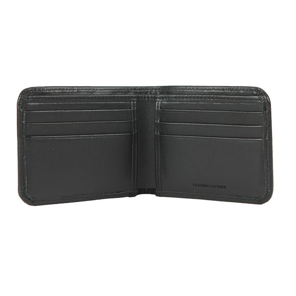 Fred Perry Mens Black Leather Billfold Wallet main image