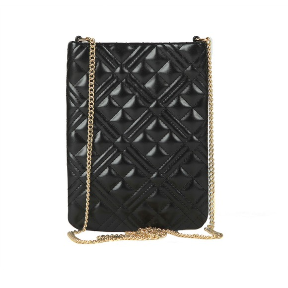 Love Moschino Womens Black Quilted Nappa Pouch main image