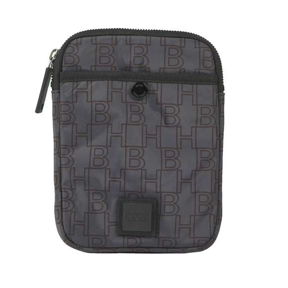 BOSS Mens Grey Pixel Mini Pouch