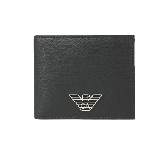 Emporio Armani Mens Black Logo Leather Wallet main image