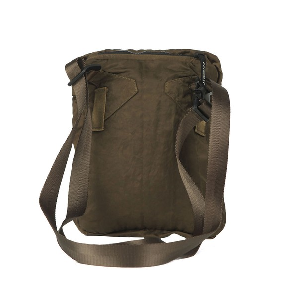 C.P. Company Mens Green Nylon Satin Man Bag