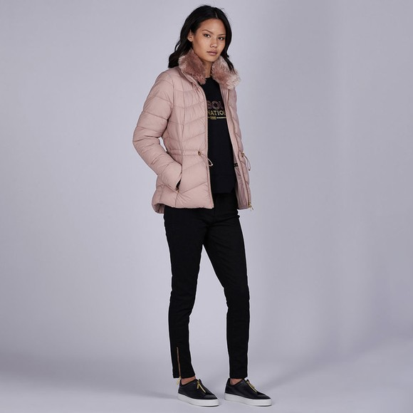 Barbour International Womens Pink Halfback Quilted Jacket