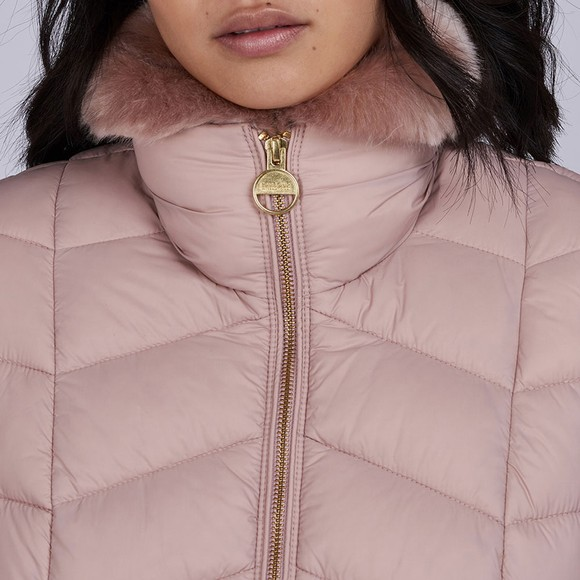 Barbour International Womens Pink Halfback Quilted Jacket main image