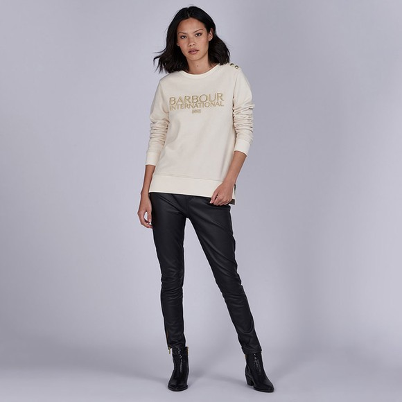Barbour International Womens Off-White Cadwell Sweatshirt