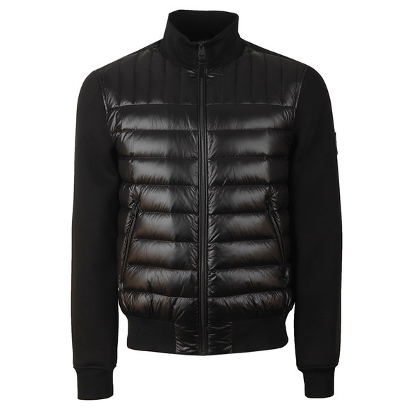 Mackage Mens Black Collin Mixed Fabric Jacket